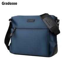 Gradosoo Large Capacity Messenger Bag Men Bag Oxford Shoulder Bags Classic Crossbody Bag For Men Business Bag Male Casual LBF672 недорого