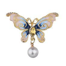 Броши бабочки заколки с животными для мужчин и женщин металлические