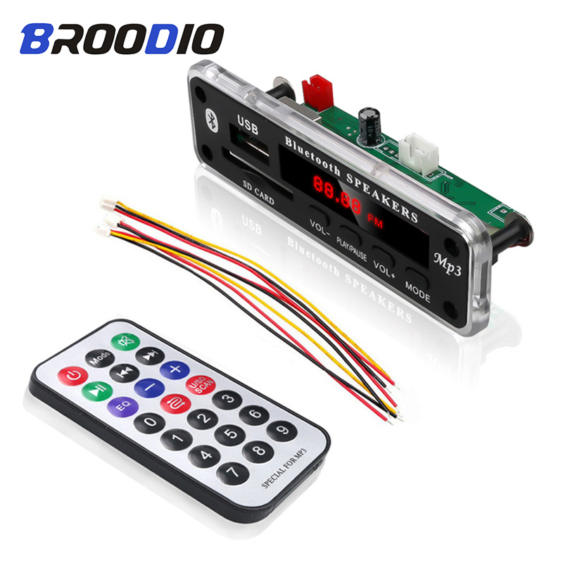 Wireless Bluetooth 5V 12V MP3 Decoder Board MP3 Audio Player Module Support USB SD AUX FM Audio Radio Module For Car Accessories