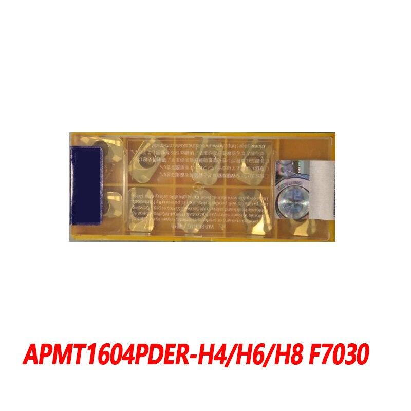 100% Original APMT APMT1604PDER-H4 F7030 APMT1604PDER-H6 APMT1604PDER-H8 10pcs Carbide Insert CNC lathe Insertion PDER Efficient