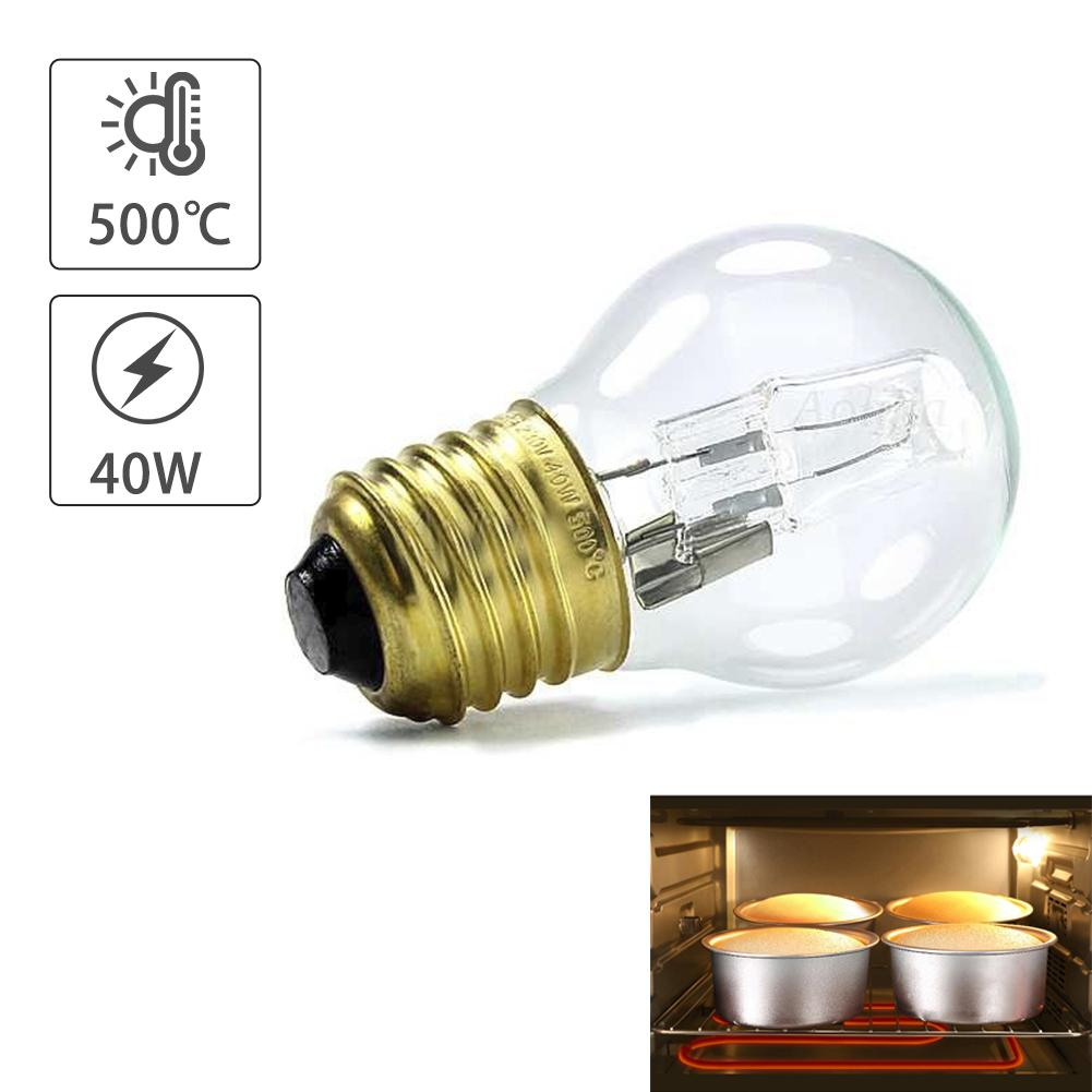 40W E27 500 Degree Microwave Oven Light Bulbs Cooker Tungsten Filament Lamp Bulbs Salt Light Bulb 110-250V High Temperature Bulb