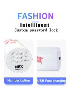 Image 3 - NBX 연필 케이스 비밀 번호 만화 패턴 펜 홀더 대용량 편지지 상자 코딩 된 잠금 홈 오피스 학교 스토리지 가방
