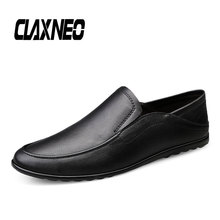 Buy CLAXNEO Man Moccsins Slip on Design Casual Leather Shoes Male Boat Shoe Loafers Genuine Leather Mens Footwear directly from merchant!