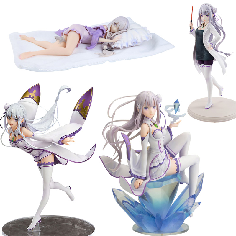 Anime Re:Life In A Different World From Zero Emilia Figure Re Zero PVC Action Figure Toy Sexy Girl Figures Collection Model Doll