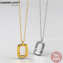 Лето любовь 2020 новый 925 Стерлинговое Серебро геометрической
