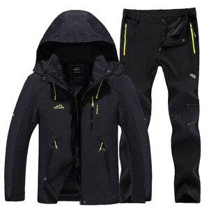 Image 1 - חדש עבה חם סקי חליפת נשים עמיד למים Windproof סקי וסנובורד מכנסיים מעיל סט נשי שלג תחפושות חיצוני ללבוש
