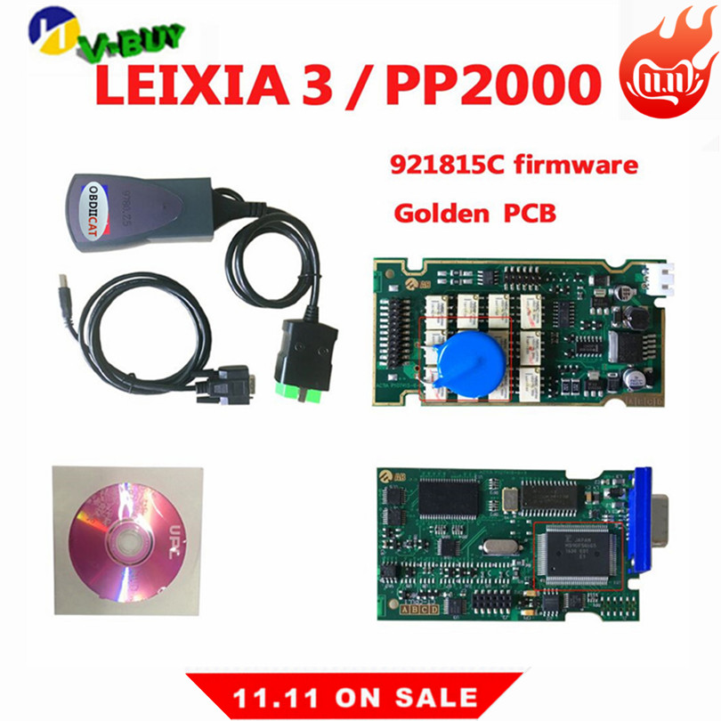 High Quality Lexia3 With Serial 921815C Firmware Golden PCB Lexia PP2000 Lexia 3 Diagbox V7.83 Lexia-3 Diagnostic Tool