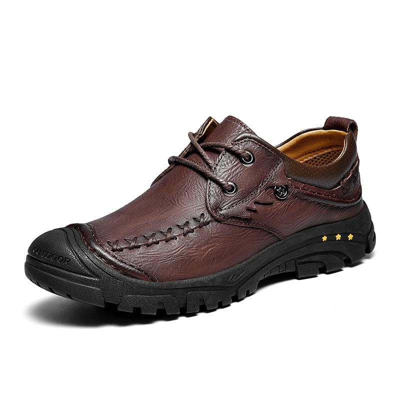 Comfortable Men Casual Shoes Loafers Men Shoes Quality Genuine Leather Shoes Men Flats Hot Sale Business Flats 2019