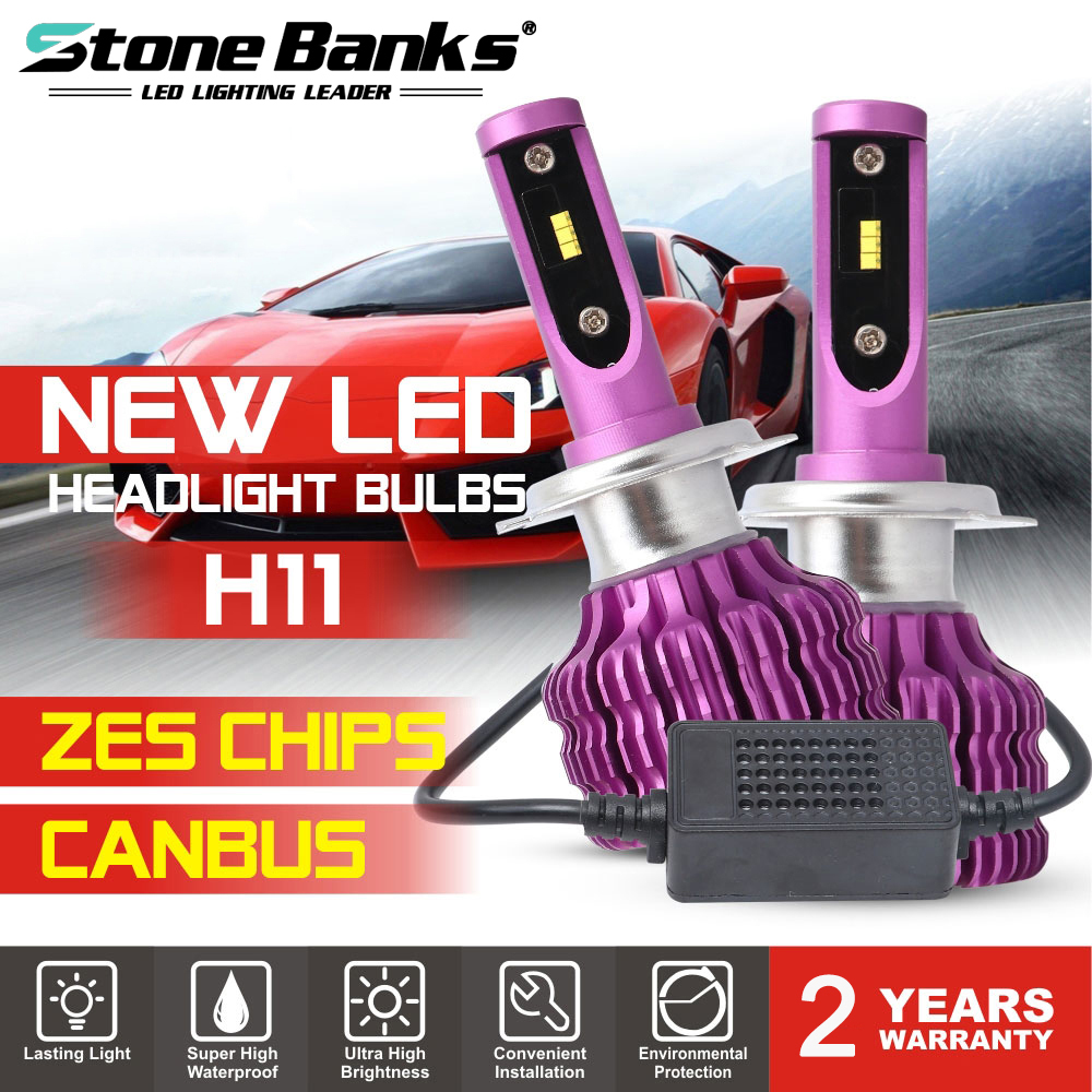 High Quality ZES Chips LED Headlight Bulbs H7 With Canbus Anti-Errors 24000LM