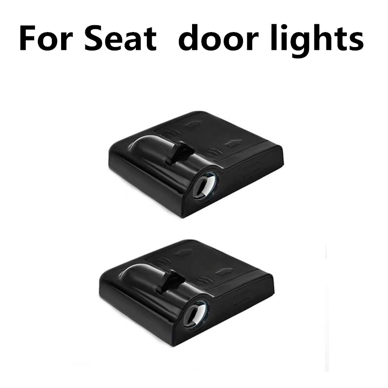2 Pcs Car Door Welcome Light Projector Logo Ghost Shadow Lights For Seat Altea 2010 2012 Leon MK3 Ibiza Alhambra Cordoba Toledo