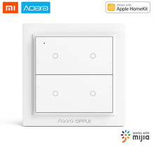 Xiaomi Aqara OPPLE Wireless Scene Switch Zigbee 3.0 For Mi home App & Apple HomeKit Four Button Smart Home Remote APP Control cross switch hka1 41y04 remote control main switch four to self lock four open 30mm