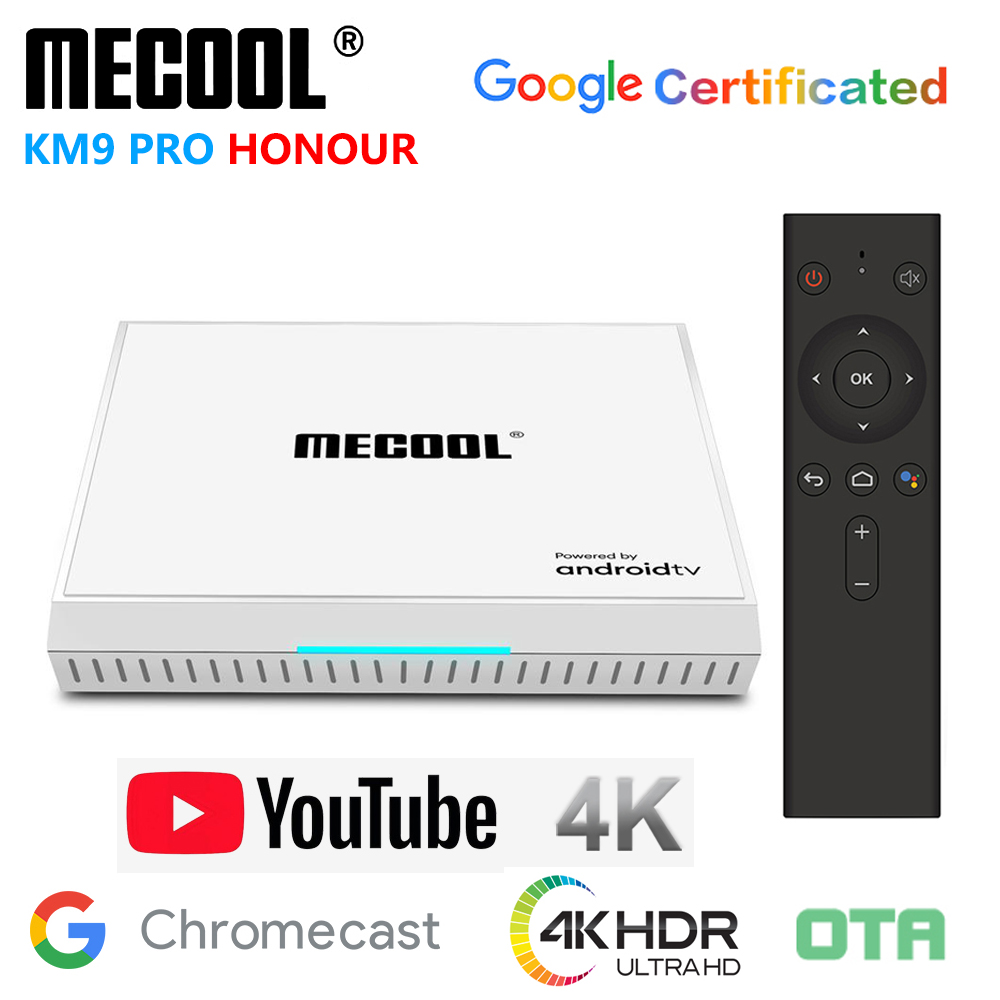 <font><b>MECOOL</b></font> <font><b>KM9</b></font> PRO HONOUR Amlogic <font><b>S905X2</b></font> <font><b>Android</b></font> 9.0 <font><b>TV</b></font> <font><b>Box</b></font> 4GB RAM 32GB ROM 2.4G 5G WiFi Bluetooth 4K HD OTA Smart Media Player image