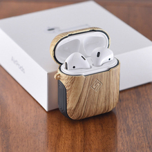 AirPods Protective Case Fashion Wood Pattern Wireless Bluetooth Headphones Headset Universal 1/2 Generation