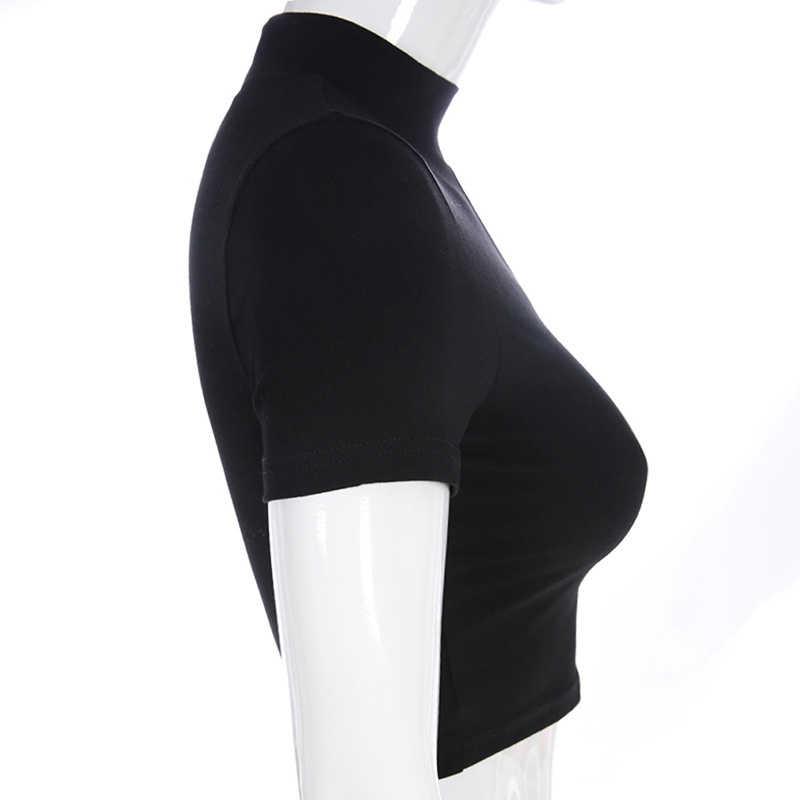 2020 najnowszy Fahion kobiety krótkie bluzki Sexy jedno ramię t-shirty z krótkim rękawem Soild znosić dziewczyny panie Clubwear odzież