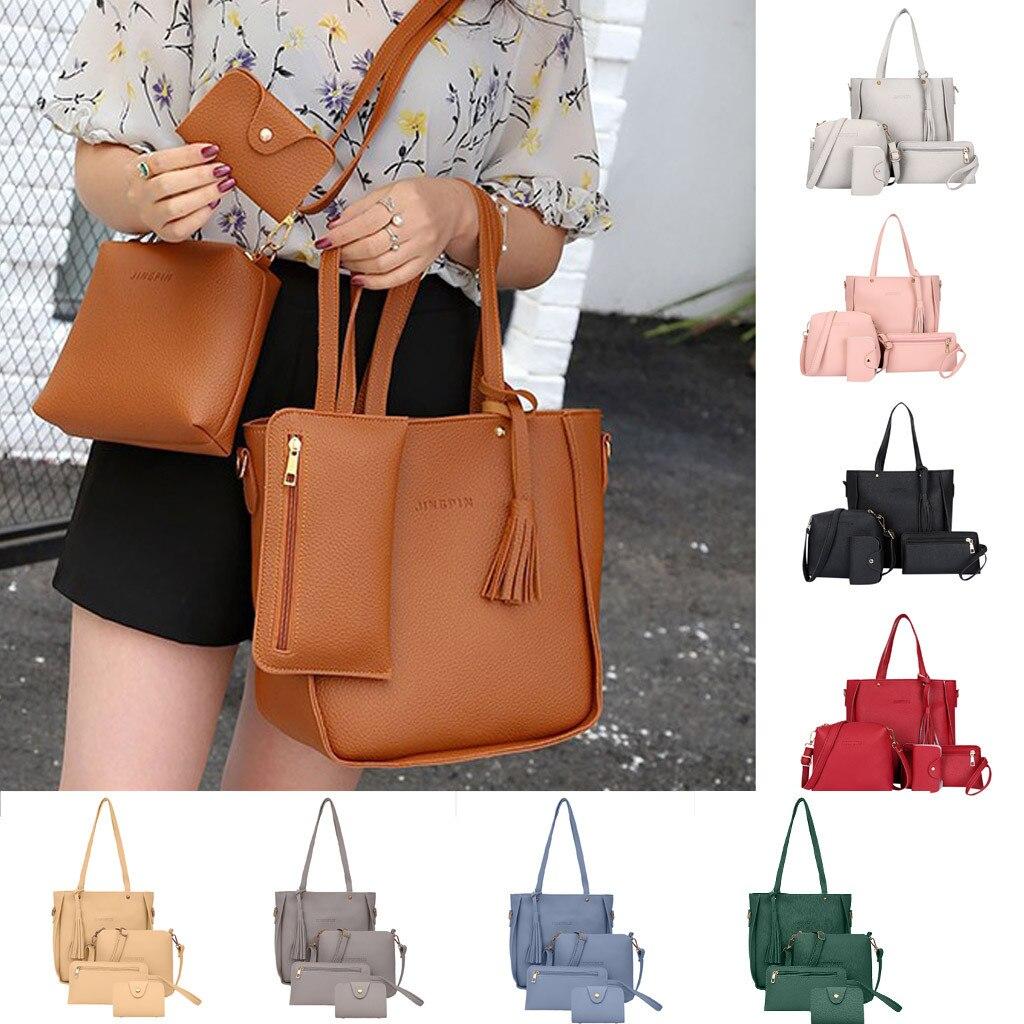 Big Capacity Female Tassel Handbag Set 10