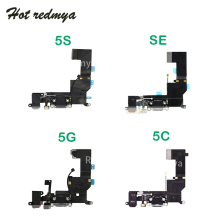Charging Port Dock USB Connector Flex For iphone 5 5C 5S SE Charger Port Dock With Mic Flex Cable 5 5G 5S Replacement цена