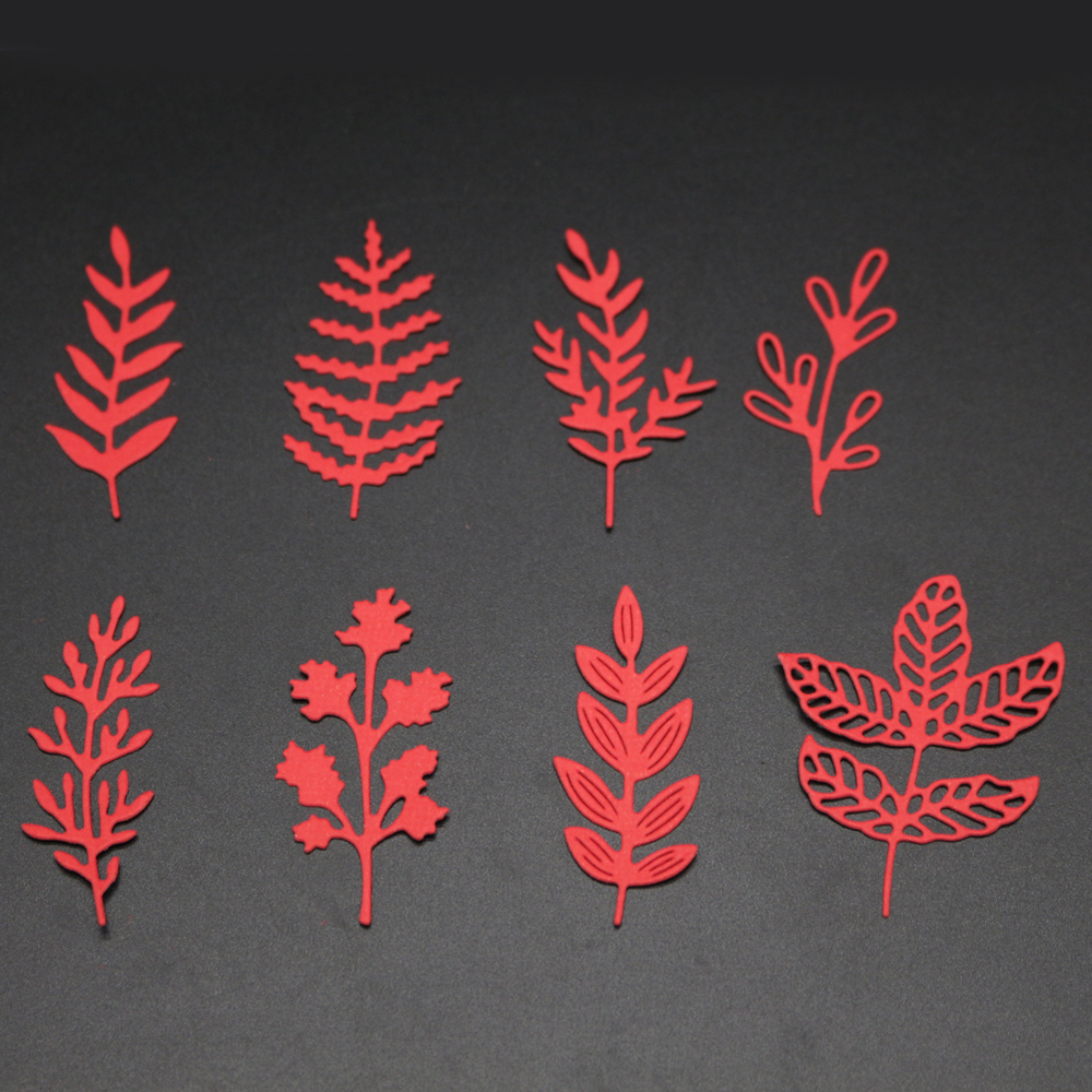 Leaf Set Frame Cut Die Scrapbook Flower Leaves Metal Cutting Dies Embossing Paper Craft Knife Mould Blade Punch Stencils Dies