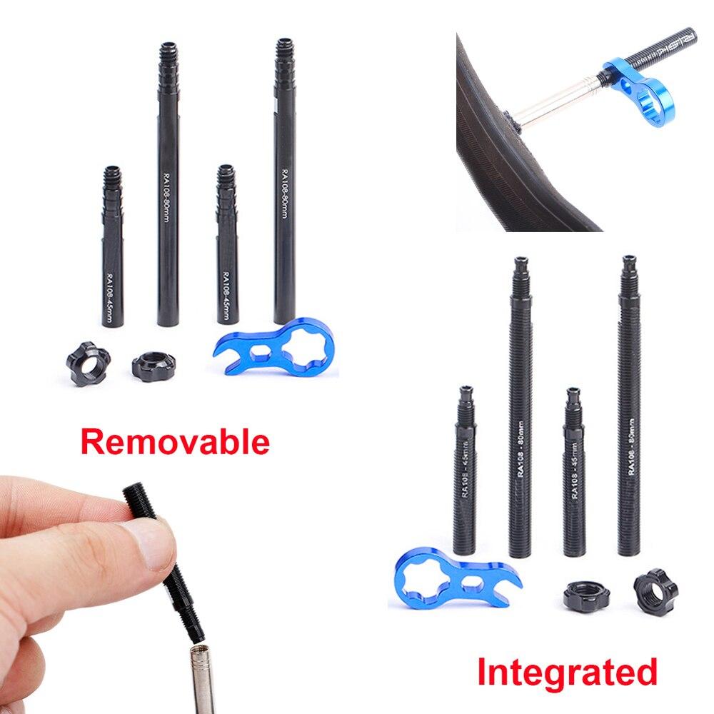 Съемный интегрированный ключ для велосипеда, детали Presta удлинитель клапана, внутренние трубки, удлинитель клапана, Аксессуары для велосипе...
