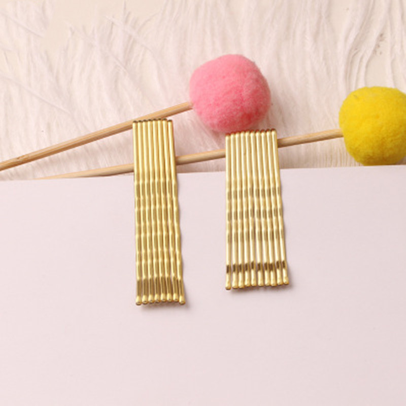 40pcs/set 5/6cm Gold  Hair Clips Spiral Bobby Pins Color Hairpins For Women Girls Hair Styling Accessories Metal Barrettes