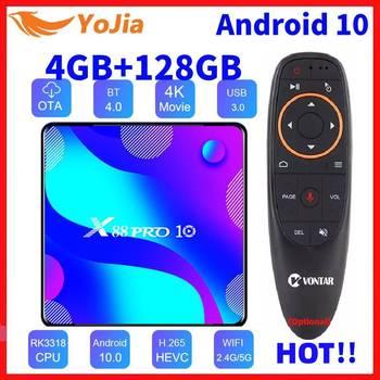 Android 10 0 Smart TV Box Android 10 MAX 4GB RAM 128GB ROM RK3318 BT4 0 TVBOX 5 8G podwójny Wifi odtwarzacz multimedialny Youtube 4K dekoder tanie i dobre opinie VONTAR 100 M CN (pochodzenie) Rockchip RK3318 Quad-Core 64bit Cortex-A53 16 GB eMMC 32 GB eMMC 64 GB eMMC 128 GB eMMC HDMI 2 0