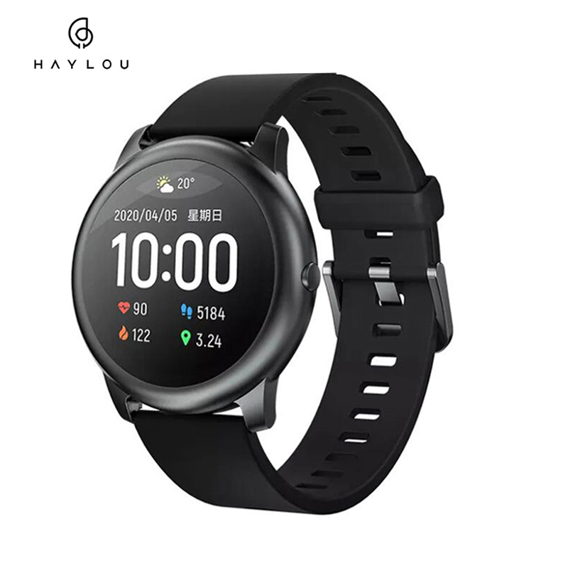 Haylou LS05 Solar Smart Watch Sport Bluetooth SmartWatch Global Version Heart Rate Sleep Monitor Waterproof IP68 For iOS Android