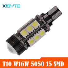 T15 w16w led cob 15 smd 6000k carro super branco led reverso luz bulbo sinal de volta led carro luz dc 12 v estilo do carro(China)