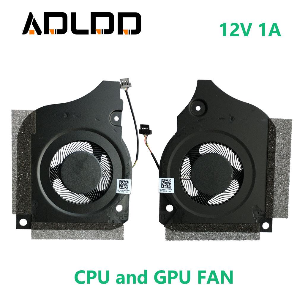 Laptop Cooling Fan DFSCK221151811 DFSCK221051821 DC12V 1A 4PIN for DELL INSPIRON G5-5590 G7-7790 7590 CN-006KT2 09THTN