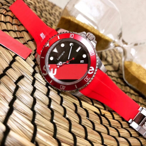 Neworignal Clasp Mensubwatchred Rubber Strap Ceramic Bezel 12800 Sea-dweller Automaticglide Smooth Second Handself-winding Watch