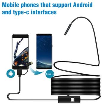 Mini Camera Endoscope HD 1200P IP68 2M Hard Flexible Tube Mirco USB Type-C Borescope Video Inspection for Android Car Endoscope antscope wifi endoscope camera android 8mm 2 0mp 720p borescope mini camera semi rigid hard tube and softwire car inspection