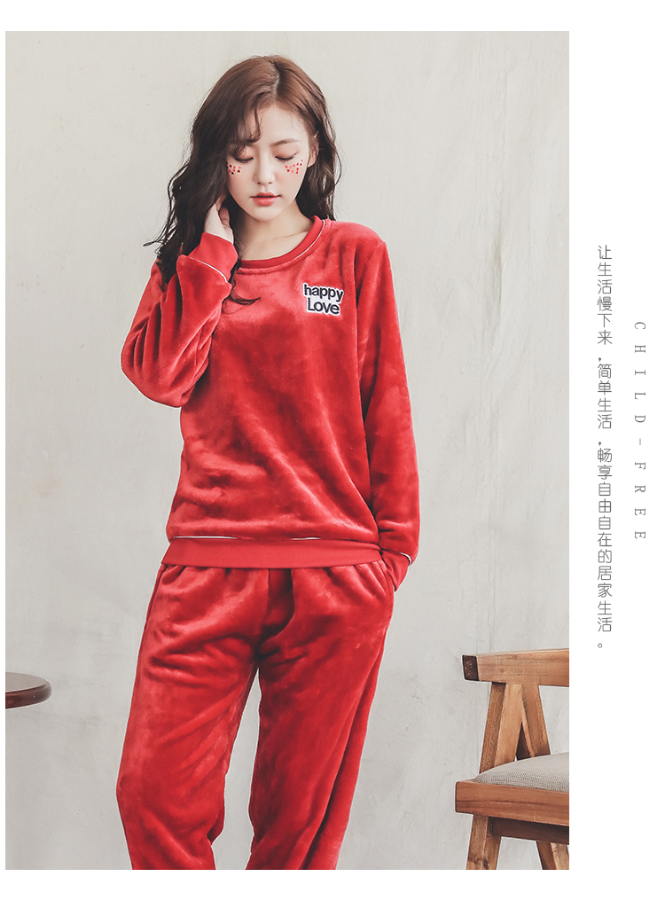 Long Sleeve Warm Flannel Pajamas Winter Women Pajama Sets Print Thicken Sleepwear Pyjamas Plus Size 3XL 4XL 5XL 85kg Nightwear 289
