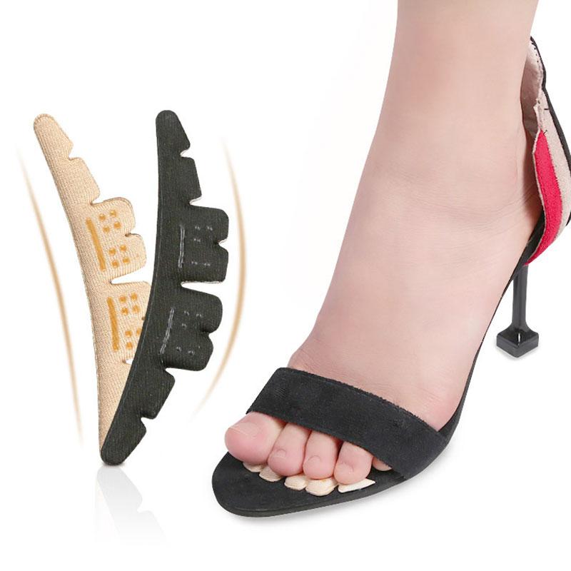 Aşınma önleyici yumuşak rahat topuk pedleri 1 çift ön ayak pedleri kaymaz çıkartmalar taban bayan yüksek topuk çıkartmalar yüksek kaliteli