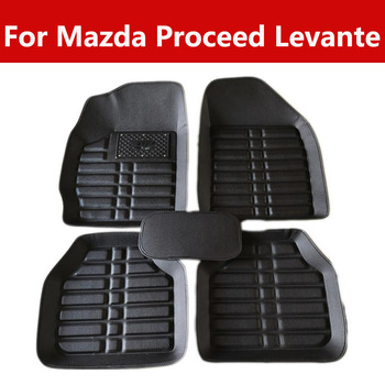 Car Floor Mats Auto Leather Carpet For Mazda Proceed Levante FH Group Tray Style Car Mats image