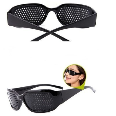 2020 Black Unisex Care Pin Eye Small Hole Eyeglasses Hole Glasses Eye Exercise Eyesight Improve Plastic Natural Healing