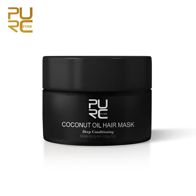 PURC 50ml Coconut Oil Hair MaskRepairs damage restore soft good or all hair types keratin Hair & Scalp Treatment for hair care 1