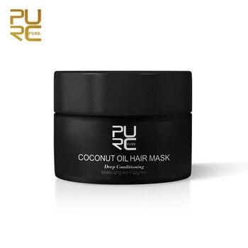 PURC-mascarilla con aceite de coco para el cuidado del cabello, 50ml, repara...