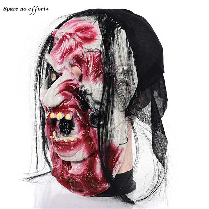 Mascara de lattice realista Marcio Zombie Maschera di Halloween di Travestimento mascara terrore Maschera di Teschio Bar Culb Cosplay Orrore Puntelli