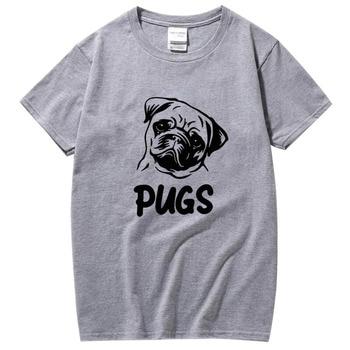 XIN YI Men's high quality100% cotton short sleeve pug print cool men T shirt casual loose men shirts tops men t-shirt tee shirts недорого