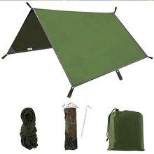 3x3m Sun Shelter Tent Tarp for Beach Waterproof Shade Outdoor Camping Hammock Rain Fly Pool Tarpaulin Garden Awning Canopy цена 2017