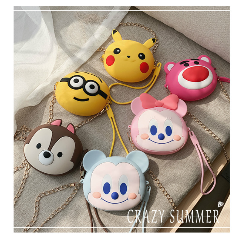Girls Wallet Round Silicone Women Purses Fashion Multifunction Coin Purse Zipper Small Money Purses Clutch Money Bags With Strap