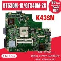 K43SM Motherboard GT630M-1G/GT540-2G REV: 3 0 Für For Asus A43S X43S K43SV K43SJ laptop Motherboard K43SM Mainboard K43SV Motherboard
