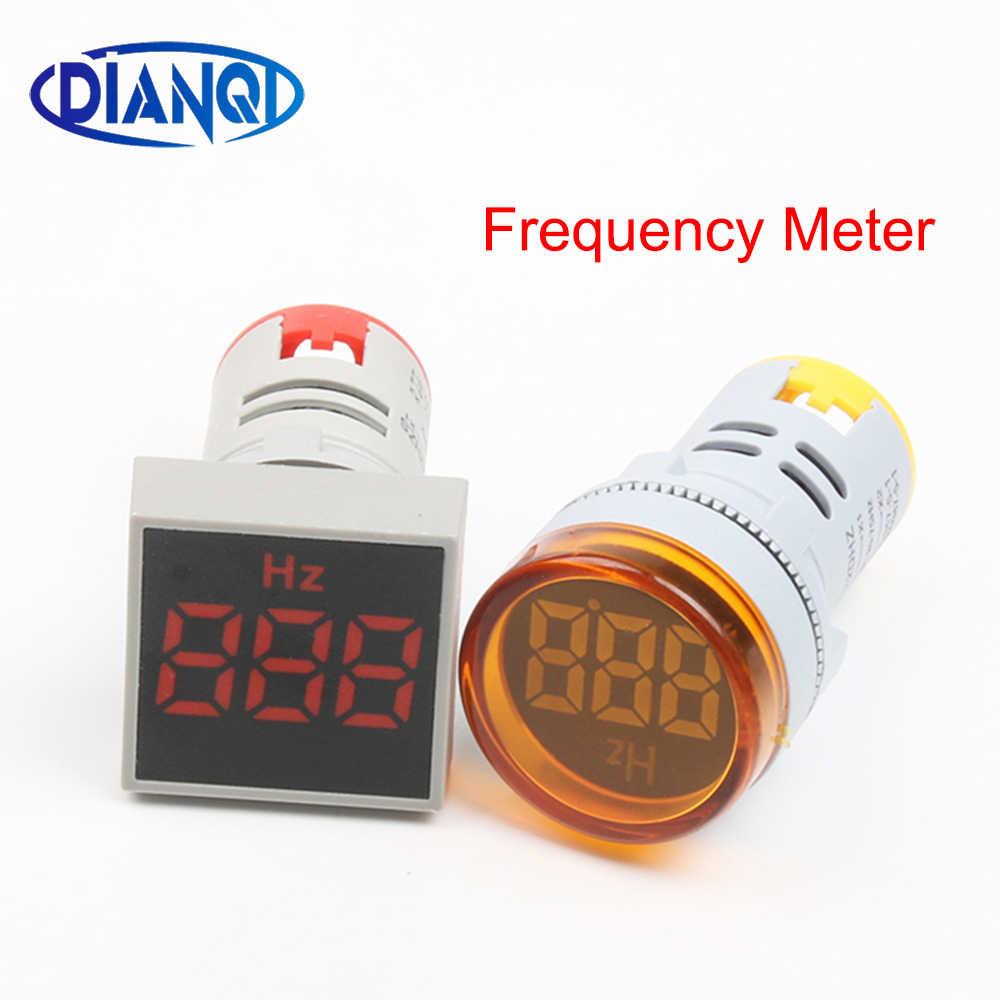 22 مللي متر LED شاشة ديجيتال الكهرباء AC تردد متر هيرتز متر مؤشر مصباح إشارة أضواء اختبار وحدة مكافحة Cymometer