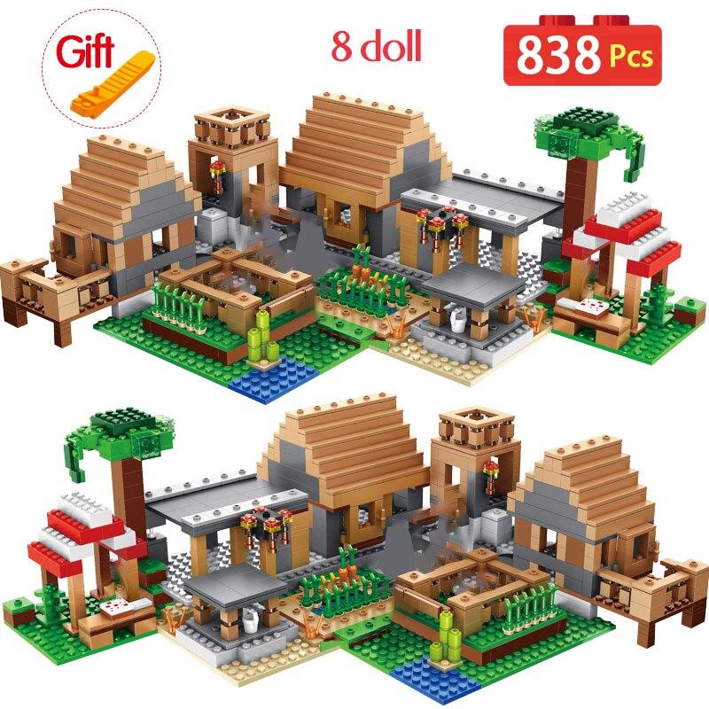 My World Ghost Village Building Blocks Compatible Legoed City Minecraftingly Bricks  Castle Village Series Toys For Kids