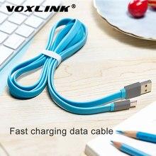VOXLINK-cable USB tipo C de carga rápida plana, cable de datos para Samsung S8, S9, Note 9, 8, Xiaomi mi8, mi6, HTC/LG
