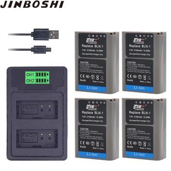 4x BLN-1 PS BLN1 BLN 1 PS-BLN1 Battery + LCD Dual USB charger for Olympus OM-D E-M1 E-M5 Mark II PEN-F E-P5 EM1 EM5 PENF EP5