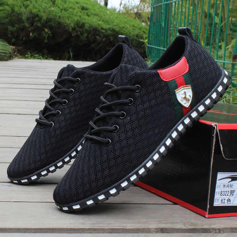 Giày Casual Nam Mới Xuất Hiện Lưới Thoáng Khí Đế Giày Nam Lười Slip On Nam Lái Xe Giày Huấn Luyện Viên