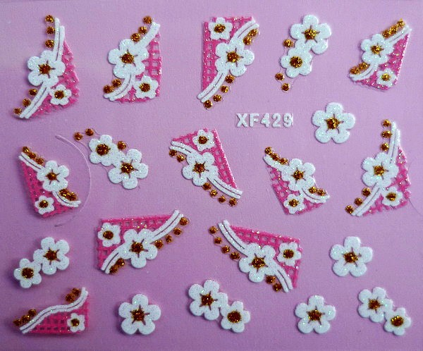 XF Nail Sticker 3D Nail Sticker Lace Nail Sticker Thousands-Selectable Recruit Agents XF429
