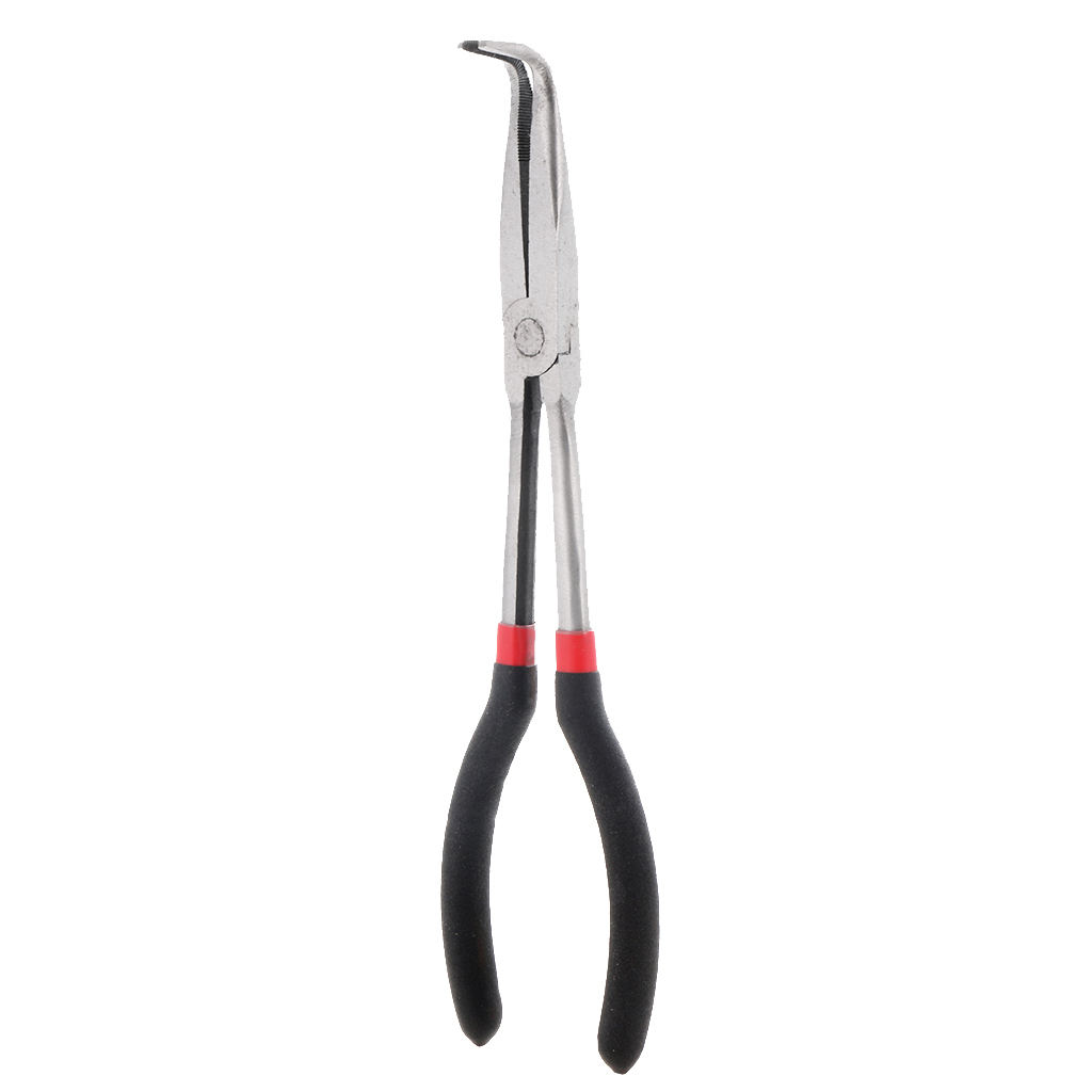 11-Inch Long Needle Bent Nose Pliers For Hobby Craft Beading Hand Tools 90-Degree