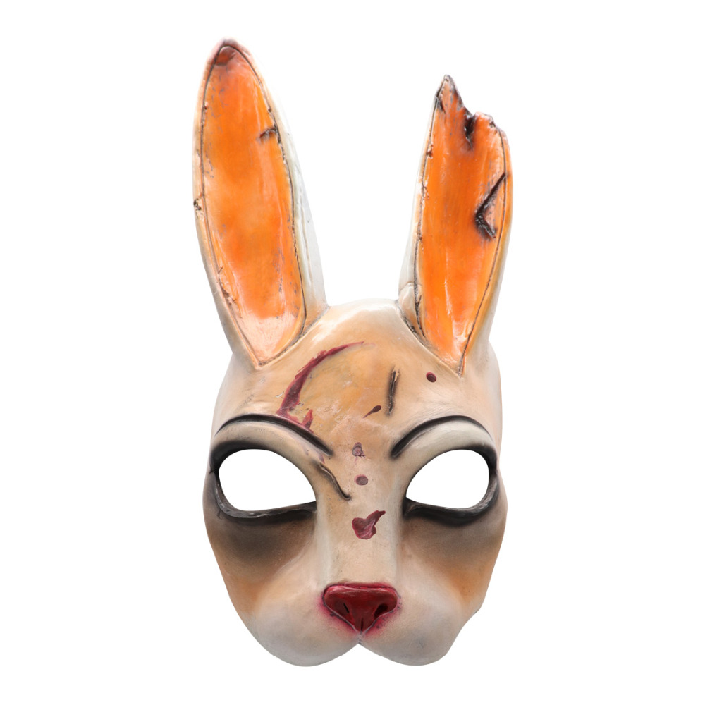 Latex Mask Helmet Game Cosplay-Props Masquerade Halloween Rabbit Daylight Dead Legion title=