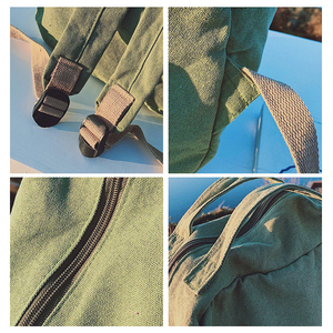 Image 5 - 2020 Korean Version Backpack Women Canvas Travel Bag Women Fashion High Capacity Solid Color Backpack Student Zipper School Bag