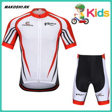 MAKOSHARK Kids Summer Team Bicycle Suit White 2019 New Style Motobiker Racing Riding Jersey Pants Sets Motorcycle Clothes